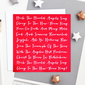 Hark The Herald Christmas Card - sale