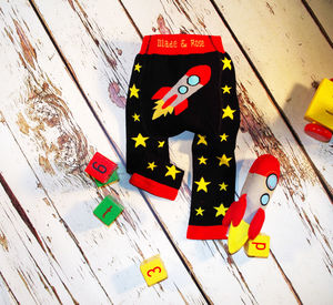 Knitted Rocket Toy With Matching Rocket Leggings - clothing