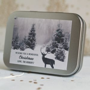 Christmas Reindeer Chocolate Gift Tin