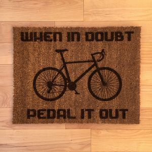 Personalised Bike Doormat
