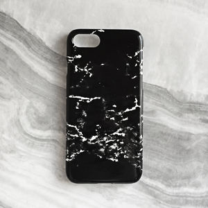 Black Marble Phone Case - women's accessories
