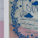 Personalised Love Papercut