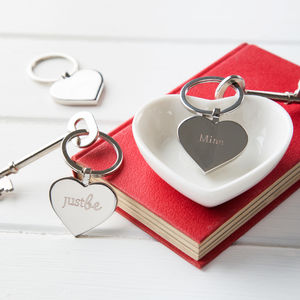 Just Be Mine Keyring And Chocolate Gift Set - keyrings