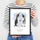 Personalised Penguin Couple Print