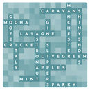 Personalised Contemporary Crossword - close up of dark sea blue crossword