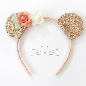 Glitter Mouse Head Band