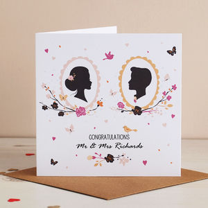 Romantic Silhouette Mr And Mrs Card