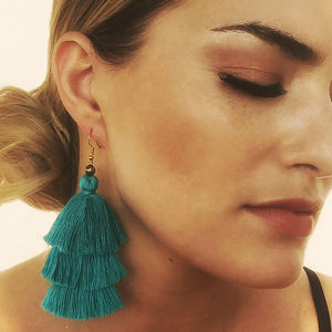 Tassel Earrings In Lagoon