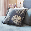 Sea Blue Pilgrim Patterned Cushion