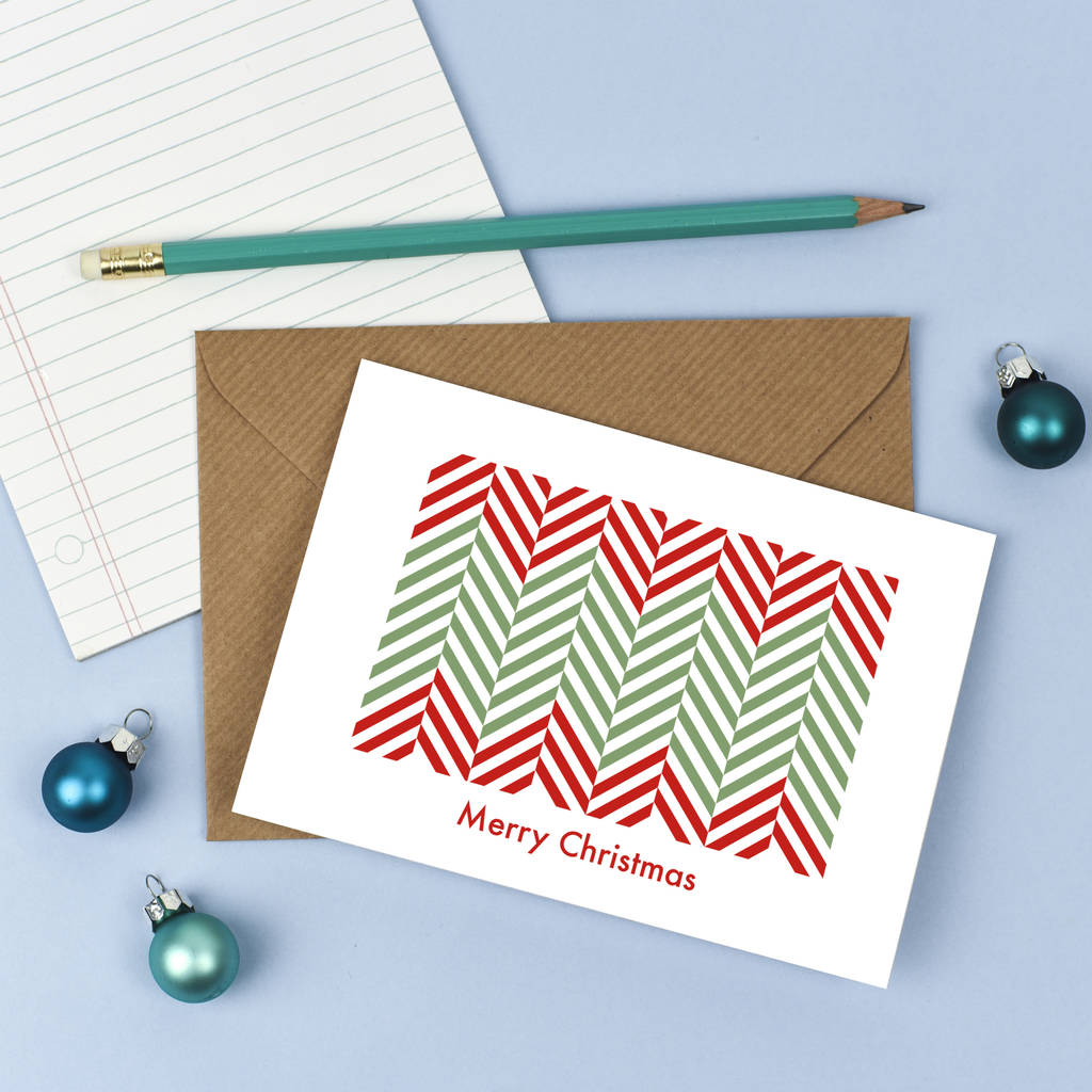 Minimal Graphical Tree Christmas Card