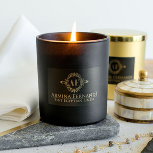 Fine Egyptian Linen Candle - the candle emporium