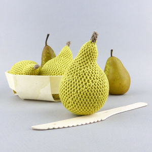 Pear Fruit Crochet Cotton Soft Toy