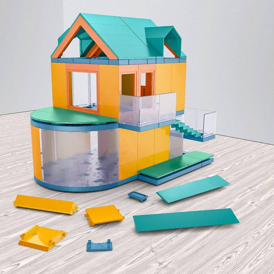 architectural model making kit go colours by arckit
