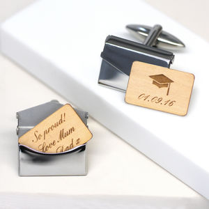 Personalised Graduation Envelope Cufflinks