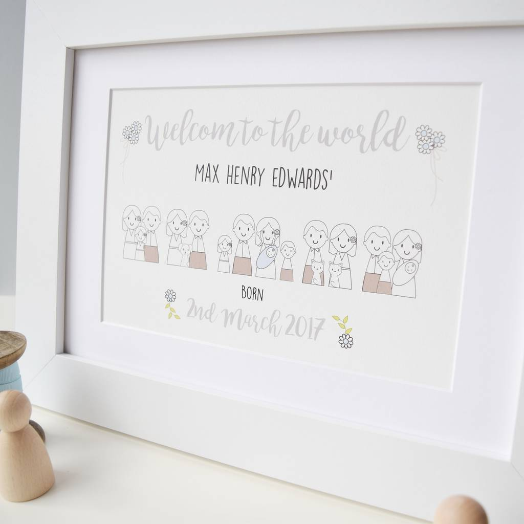 Personalised New Baby Boy Picture
