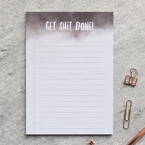 A5 To Do List Notepad 'Get Shit Done'