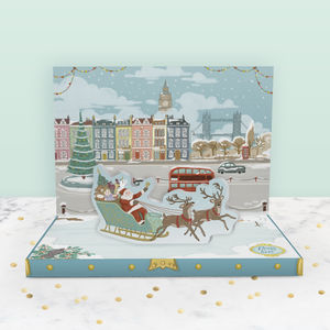 Christmas In London Music Box Card - cards
