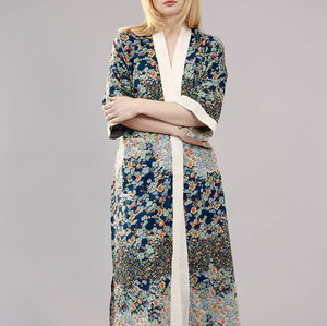 Geisha Organic Cotton Kimono Dressing Gown - women's fashion