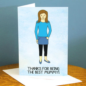 Best Mummy Portrait Card - mother's day cards