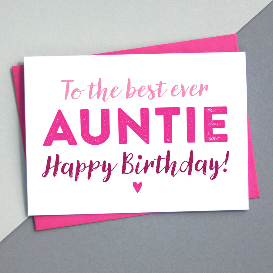 Birthday Cards For Aunt – gangcraft.net