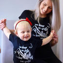 Safe And Wild Mum And Child T Shirt Set