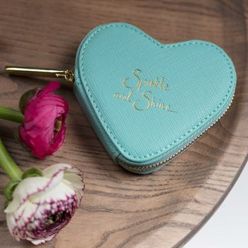 **'Sparkle And Shine' Mint Green Coin Purse