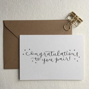 Congratulations To You Pair Greeting Card