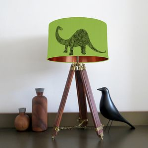 Dinosaur Lampshade With Fifteen Fabric Colour Options - lamp bases & shades