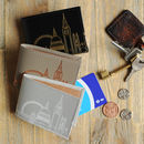 Recycled Leather London Skyline Travel Card Holder