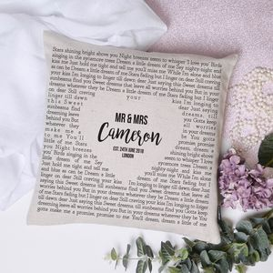 Favourite Quote Wedding Anniversary Cushion Cover