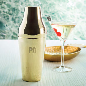 Personalised Initials Brass Cocktail Shaker - gifts for foodies