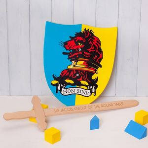Personalised Wooden Toy Sword And Shield - toys & games