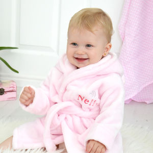 Personalised Fleece Baby Robe With Ears - winter sale
