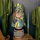 Big Cat Oversized Cone Velvet Lampshades In Flint