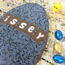 Large Chocolate Easter Egg With Blue Granite Design