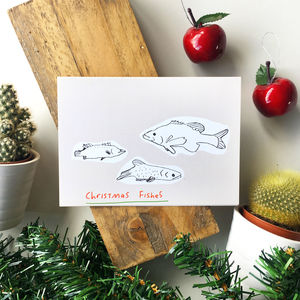 Christmas Fishes Holiday Card - cards & wrap