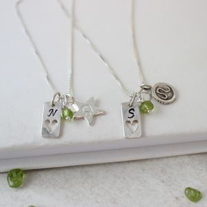 Personalised Zodiac And Silver Tag Charm Necklace - necklaces & pendants