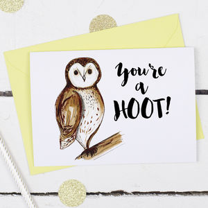You're A Hoot, Valentine's Card