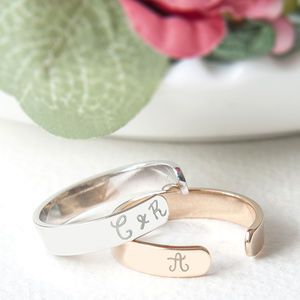 Personalised Open Ring - rings