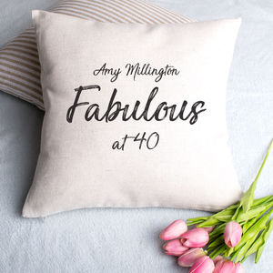 Birthday Cushion Cover - 40th birthday gifts
