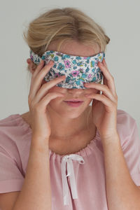 Ladies Sleep Mask In Isabel Vintage - eye masks & neck pillows