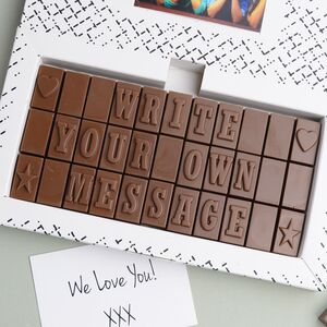 Personalised Chocolate 33 Letters