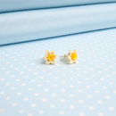 Small Daffodil Stud Earrings