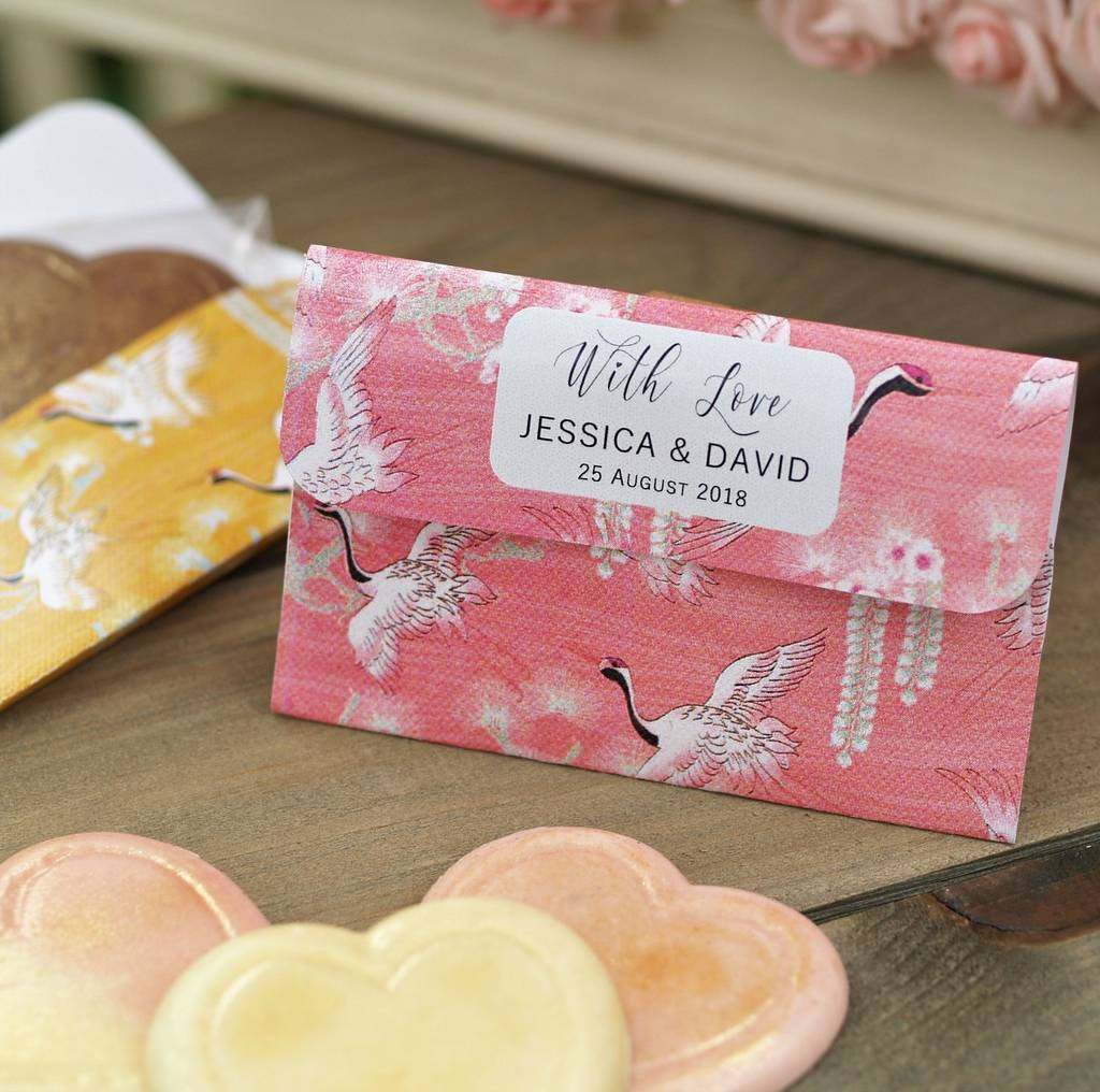personalised chocolate wedding favour pouches by beautiful day ...