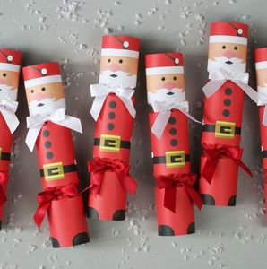 Six Luxury Father Christmas Crackers