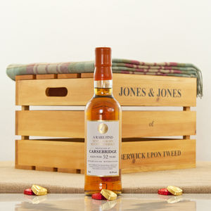 Carsebridge 52 Year Old Single Grain Whisky Hamper - wines, beers & spirits