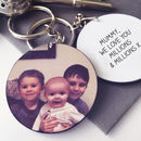 Mums Personalised Photo Keyring