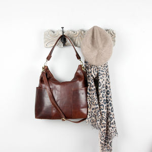 Amesbury Leather Pocket Hobo Bag - womens