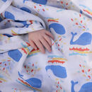 Muslin Swaddle Whale Print