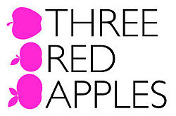 Three Red Apples logo